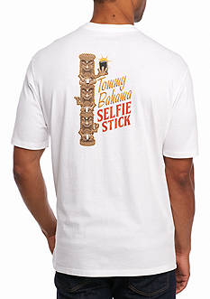 Tommy Bahama Selfie Stick Long Sleeve Graphic Tee