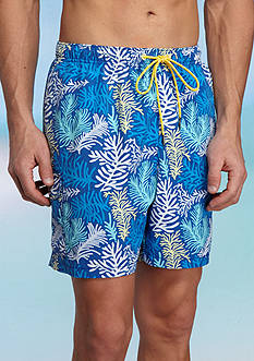 Tommy Bahama Naples Coral Sagan Printed Swim Trunks
