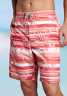 Tommy Bahama Baja Leaf On The Water Printed Swim Trunks