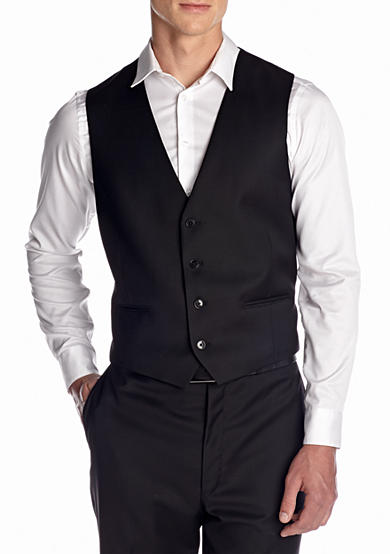 Calvin Klein Slim Fit Solid Suit Separate Vest