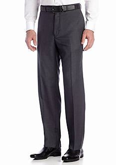 Calvin Klein Charcoal Wool Flat Front Pants