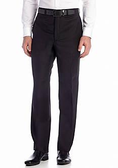 Calvin Klein Black Wool Flat Front Pants
