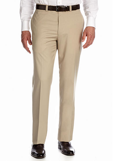 Calvin Klein Flat Front Solid Pants