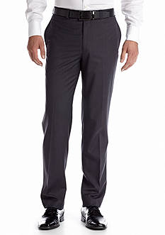 Calvin Klein Solid Flat Front Pants
