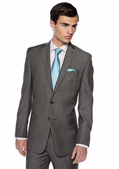 Calvin Klein Slim Fit Charcoal Neat Suit Separate Coat Belk