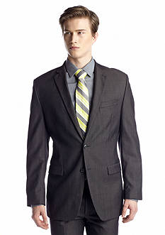 Calvin Klein Slim Fit Grey Herringbone Suit Separate Coat