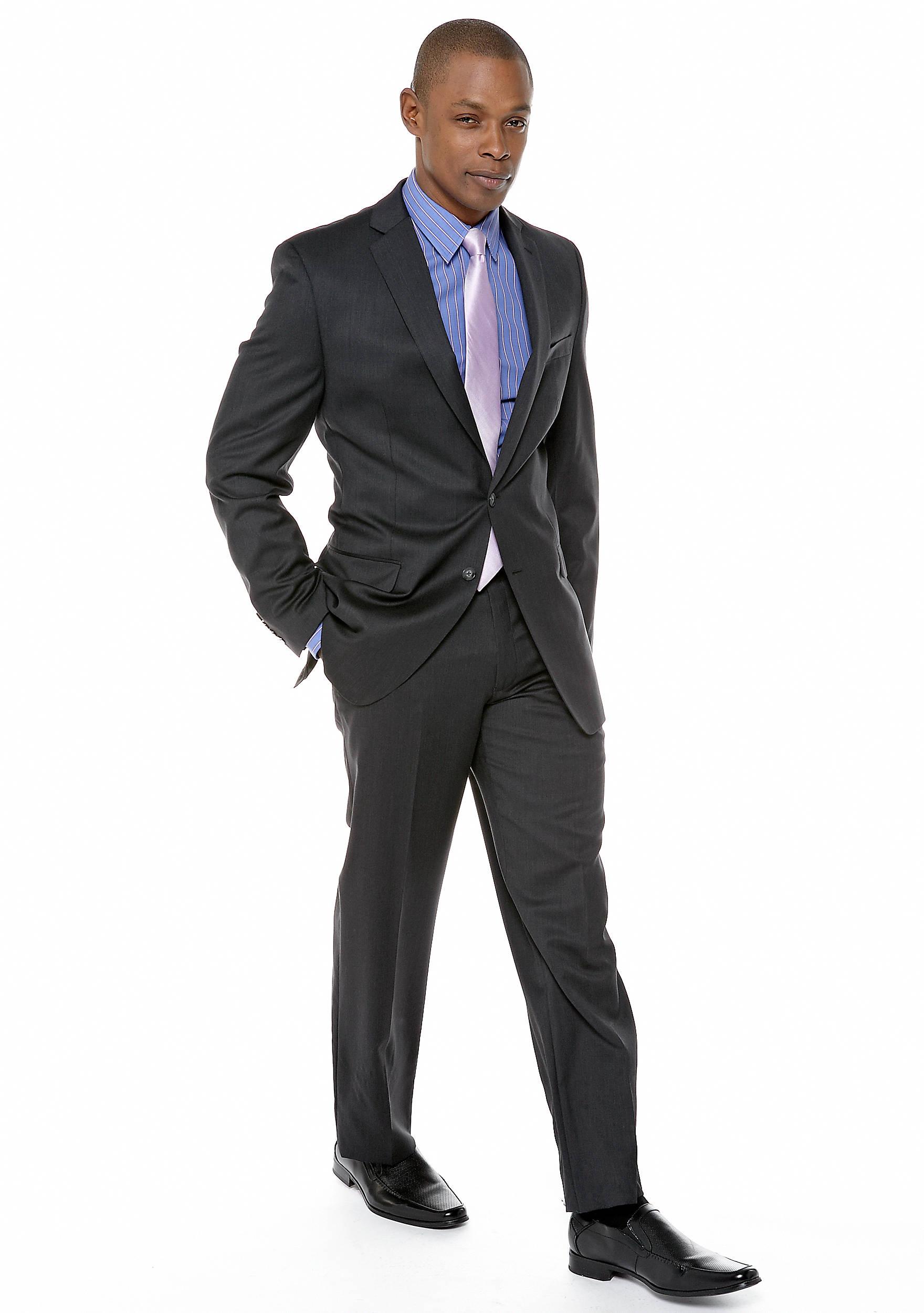 Calvin Klein Slim Fit Charcoal Suit | belk