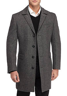 Calvin Klein Slim Fit Minneapolis Herringbone Wool Coat