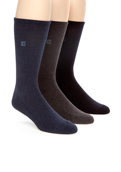 Chaps Cushion Sole Rib Crew Socks - 3 Pack