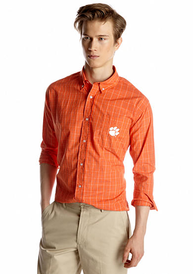 Campus Specialties Clemson Tigers Plaid Woven Shirt