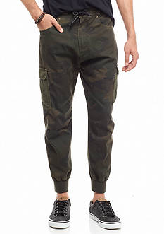 Chor Mixed Media Twill Jogger Pants
