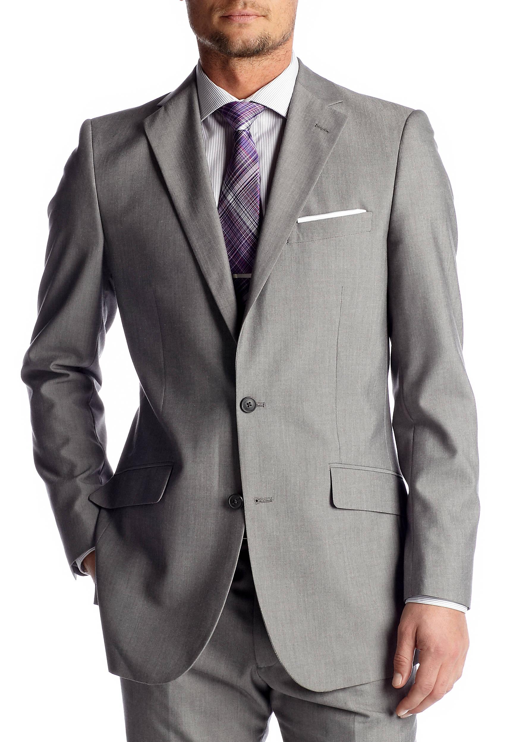 Madison Slim-Fit Light Gray Suit Separate Coat | belk