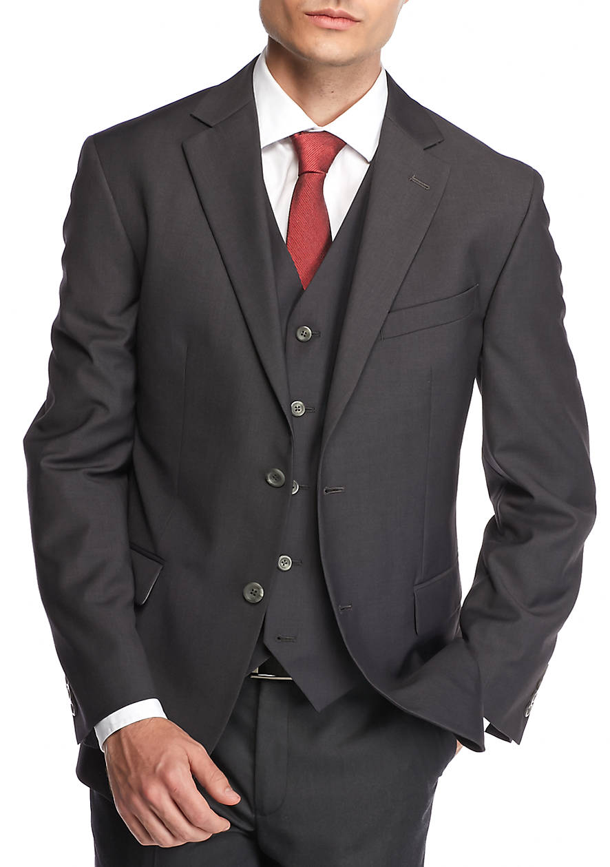 Big & Tall Solid Modern-Fit Suit Separate Jacket