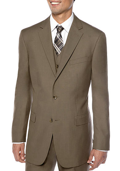 Geoffrey Beene Modern Fit Sharkskin Suit Separate Coat
