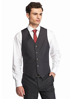 Geoffrey Beene Solid Modern-Fit 2-Pocket Suit Separate Vest
