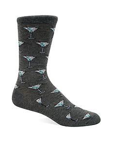 Hot Sox® Martini Crew Socks - Single Pair