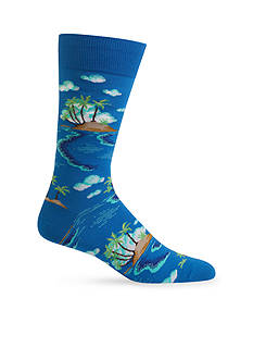 Hot Sox Island Scenic Socks-Single Pair