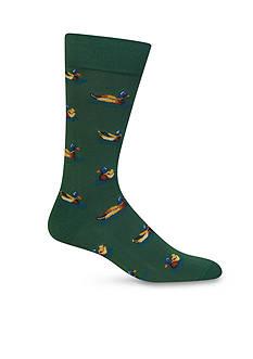Hot Sox Ducks Crew Socks - Single Pair