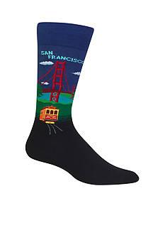 Hot Sox Golden Gate Bridge Crew Socks - Single Pair