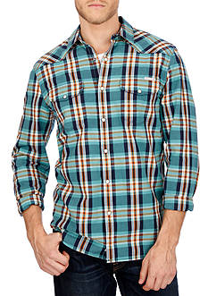 Lucky Brand Santa Fe Western Plaid Shirt
