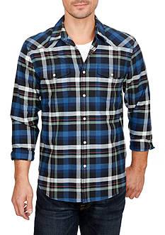 Lucky Brand Long Sleeve Santa Fe Western Button Down Shirt