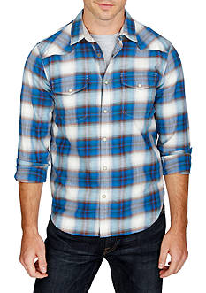 Lucky Brand Long Sleeve Santa Fe Ombre Western Shirt