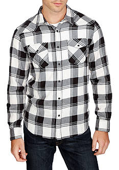 Lucky Brand Long Sleeve Santa Fe Plaid Western Shirt
