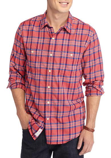 Lucky brand mason plaid workwear shirt belk for Mason s men s shirts