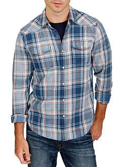 Lucky Brand Long Sleeve Santa Fe Indigo Western Shirt