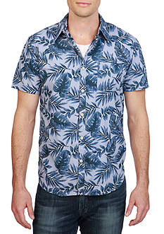 Lucky Brand Short Sleeve Ballona Floral Shirt