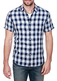 Lucky Brand Short Sleeve Check Print Ballona Shirt