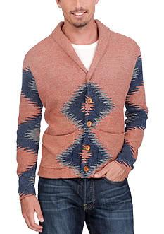 Lucky Brand Intarsia Shawl Collar Sweater