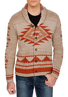 Lucky Brand Mulhoulland Tribal Shawl Collar Cardigan