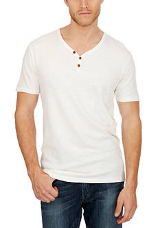 Lucky Brand Salt Point Solid Y-Neckline Tee