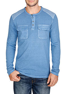 Lucky Brand Long Sleeve Surfside Henley Shirt