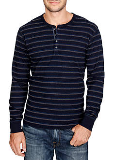 Lucky Brand Long Sleeve Pacific Stripe Henley