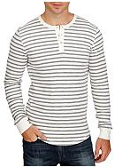 Lucky Brand Long Sleeve Stripe Lived In Henley