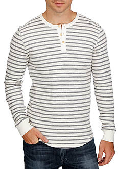 Lucky Brand Long Sleeve Stripe Lived In Henley Shirt