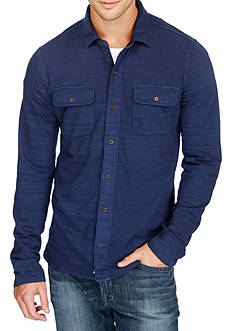 Lucky Brand Long Sleeve Knit Button Down Shirt