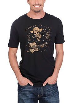 Lucky Brand Nothing To Lose Skull Graphic Tee