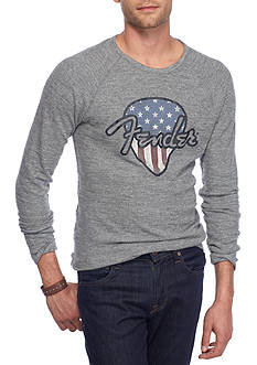 Lucky Brand Long Sleeve Fender Pic Thermal Crew Shirt