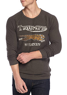 Lucky Brand Long Sleeve Triumph Tiger Thermal Crew Neck Shirt