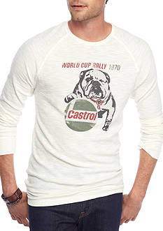 Lucky Brand Long Sleeve Castroil World Cup Thermal Crew Shirt