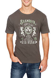 Lucky Brand Short Sleeve Shamrock Poker Graphic Tee