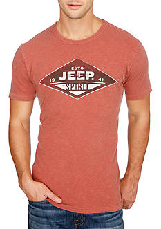 Lucky Brand Short Sleeve Jeep Spirit Grill Graphic Tee
