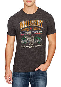 Lucky Brand Short Sleeve Whiskey & Motorcycles Graphic Tee