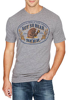 Lucky Brand Short Sleeve Bear Beer Graphic Tee