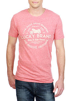 Lucky Brand Short Sleeve Drive Faster Graphic Tee