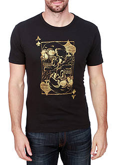 Lucky Brand Short Sleeve Ace Skulls Graphic Tee