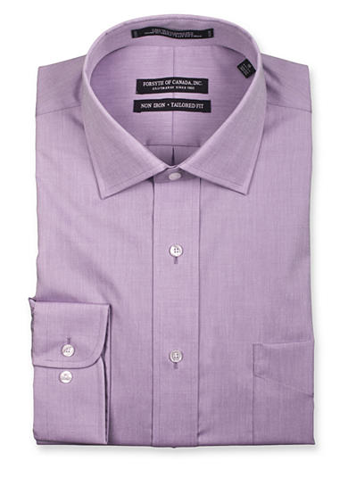 Forsyth of Canada Tailored-Fit Non-Iron Solid Dress Shirt